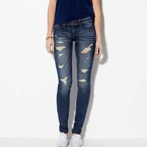 American Eagle Super Stretch Destroyed Jeggings